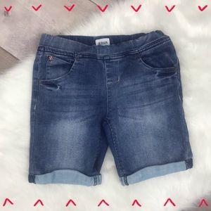 Girls Hudson cuffed jean shorts size 6x